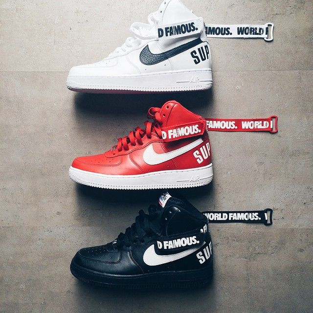 sale retailer ba983 3c1fa Supreme x Nike Air Force 1s | shoes in 2019 | Nike shoes ...