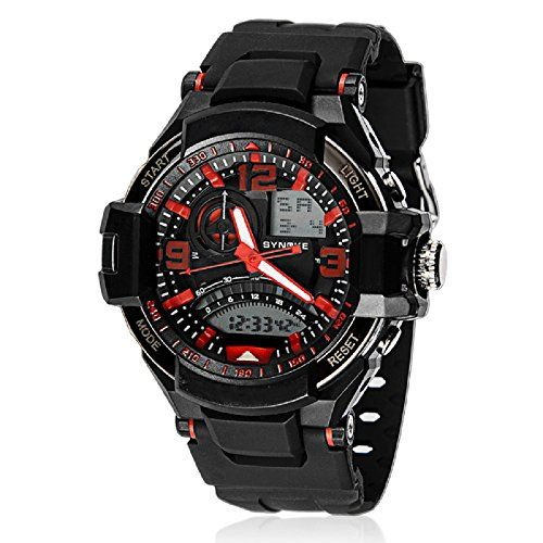 SMTSMT Multi Function Digital Sports Wrist Watch WaterproofRed * More info could be found at the image url.Note:It is affiliate link to Amazon.
