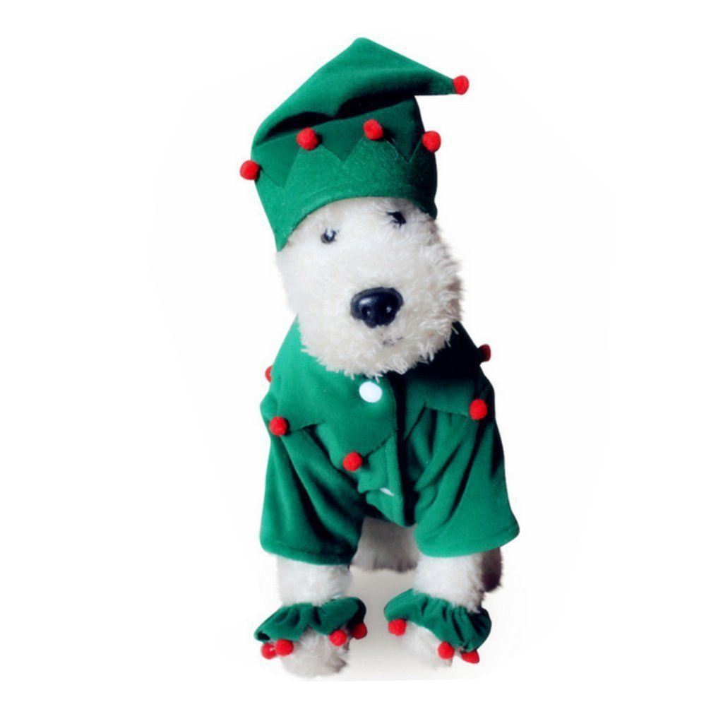 Petbobo Dog Cat Pet Christmas Tree Costumes Suit Hoodies Coat Winter Clothing Apparel Puppy Outwear Pet Costumes Cat Halloween Pets Dogs Pet Costumes For Dogs
