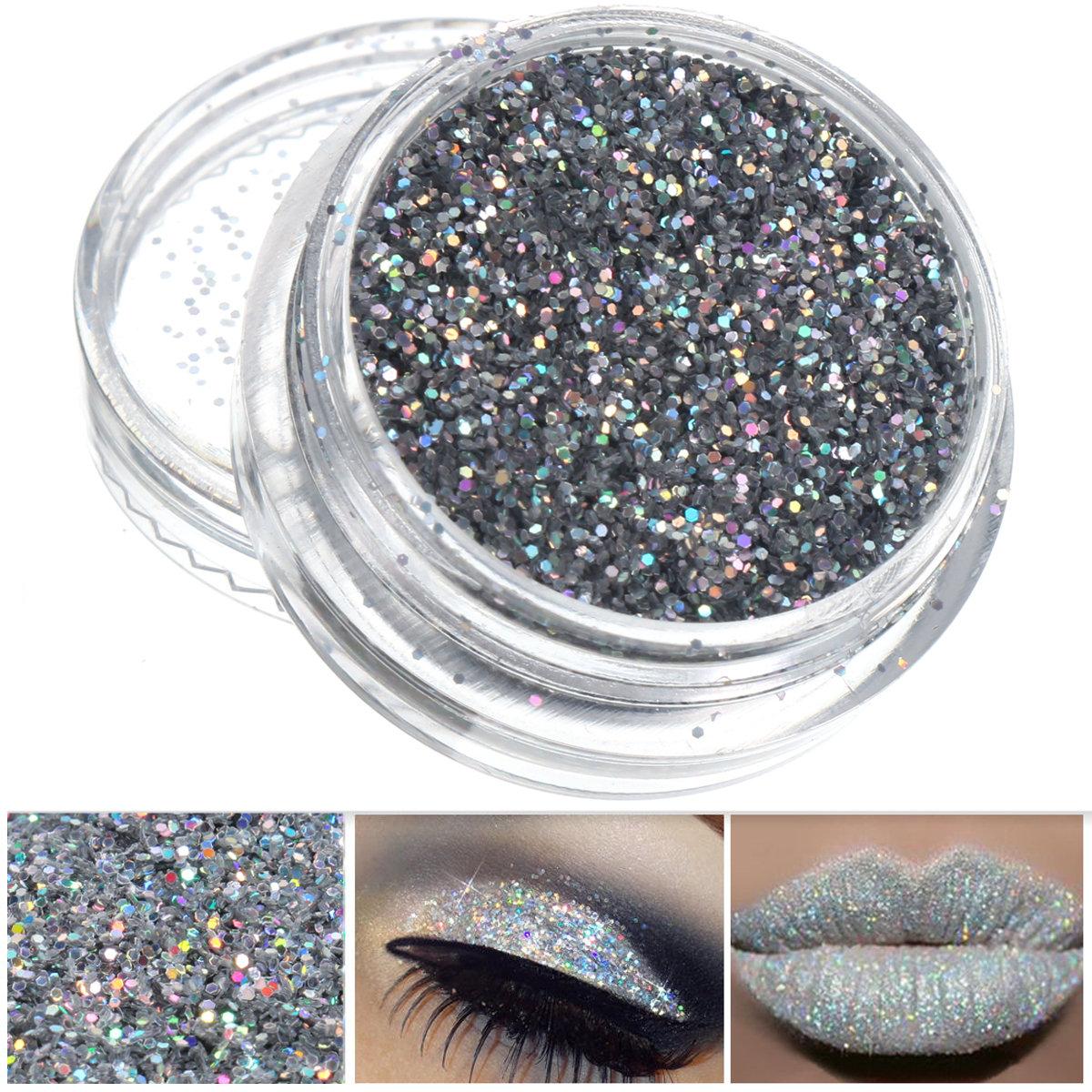 Silver Glitter Nail Decoration Powder Eye Shadow Pigment