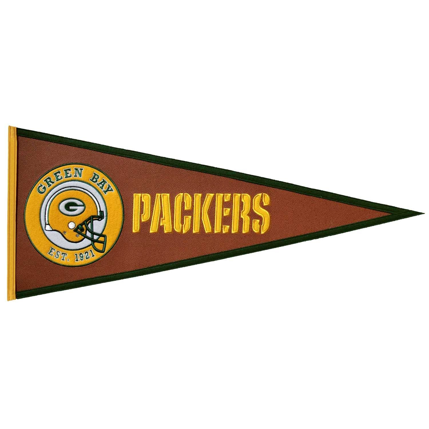Green Bay Packers Pigskin Pennant Green Bay Packers Green Bay Nfl Green Bay