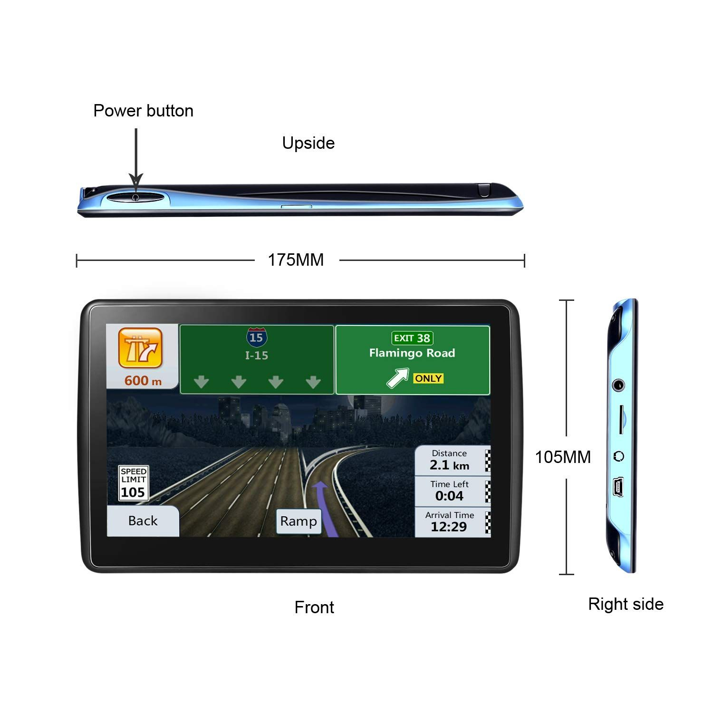 Car Gps Navigation 7inch Hd Gps Navigation 2568gb Voice Broadcast