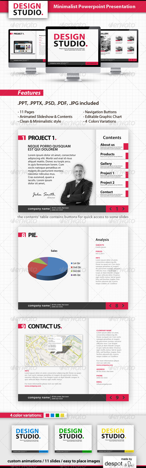 minimalist powerpoint template | ppt template, communication, Presentation templates