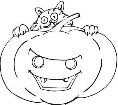 Garfield Halloween Coloring Page For You To Color In And Another Of A Different Type