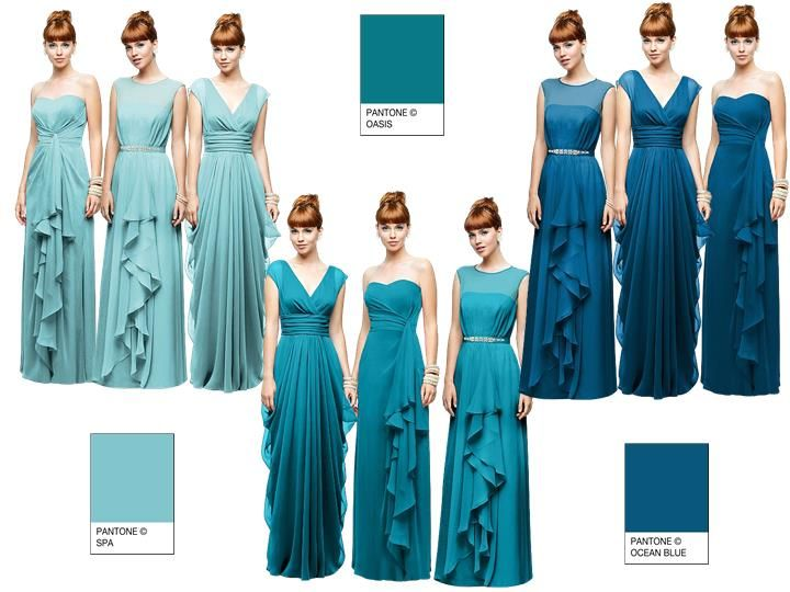 Blue Idea 1 Pantone Wedding Styleboard The Dessy Group