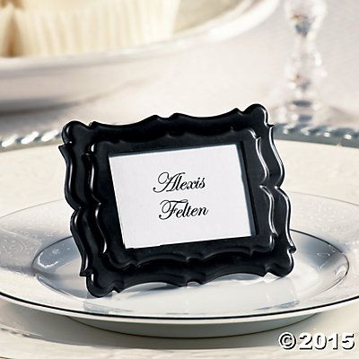 Black Mini Place Card Photo Frames | Place card, Reception and Weddings