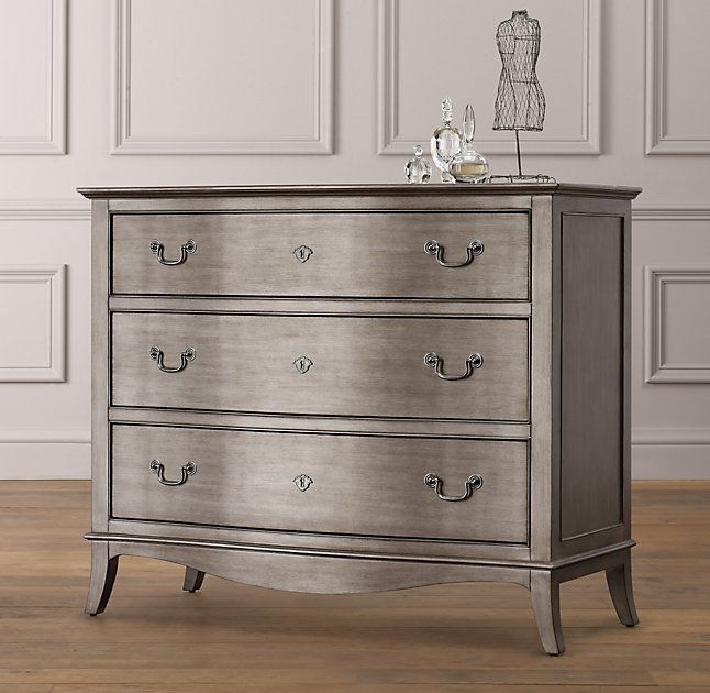 Rh Baby Child S Charlotte Dresser A Graceful Bow Front Curved And Splayed Legs Give This Collection The Look Of Cherished Heirloom That Been