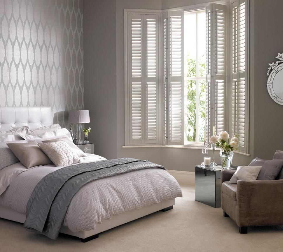 Bed beside window ideas  comfortable bedroom interior design with elegant window blinds as