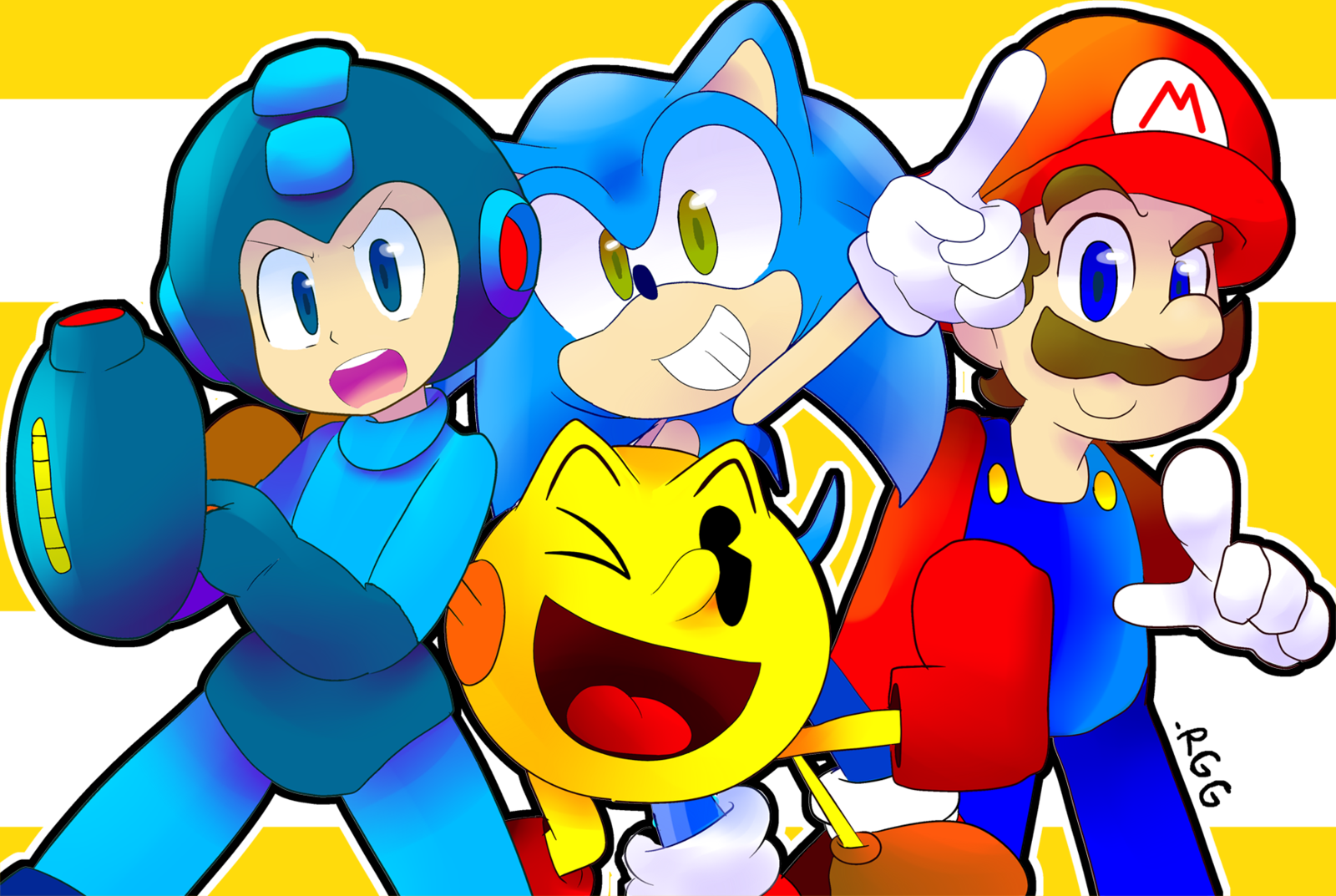 Awesome Gaming Quartet~Doodle by RebornGamerGirl.deviantart.com on @deviantART