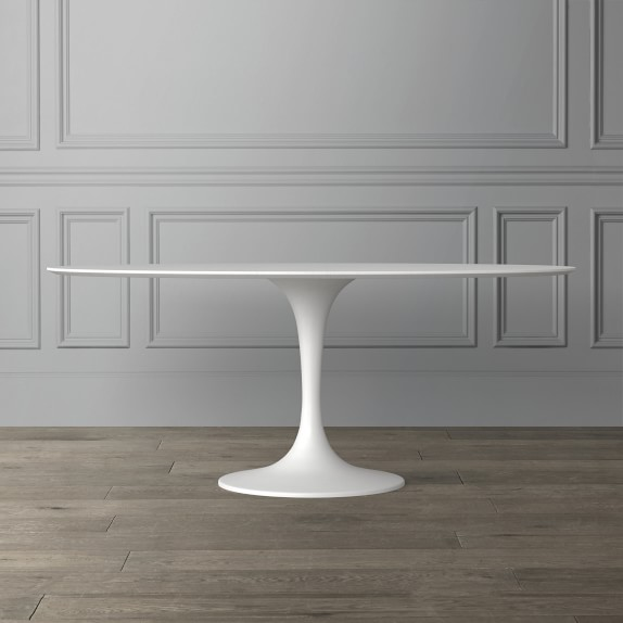 Tulip Pedestal Oval Dining Table White Base With Images Oval