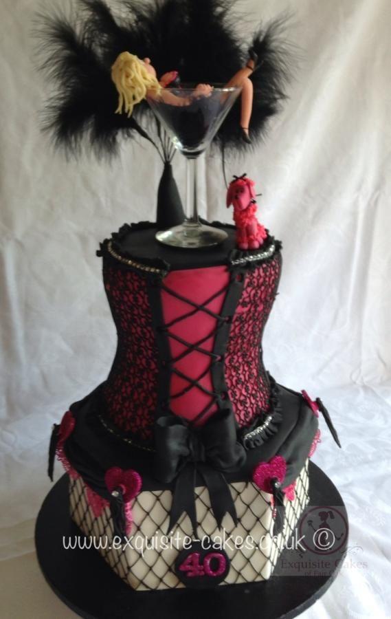Burlesque 40th Birthday Cake Bolo Burlesco Bolos Para Cha De Bebe