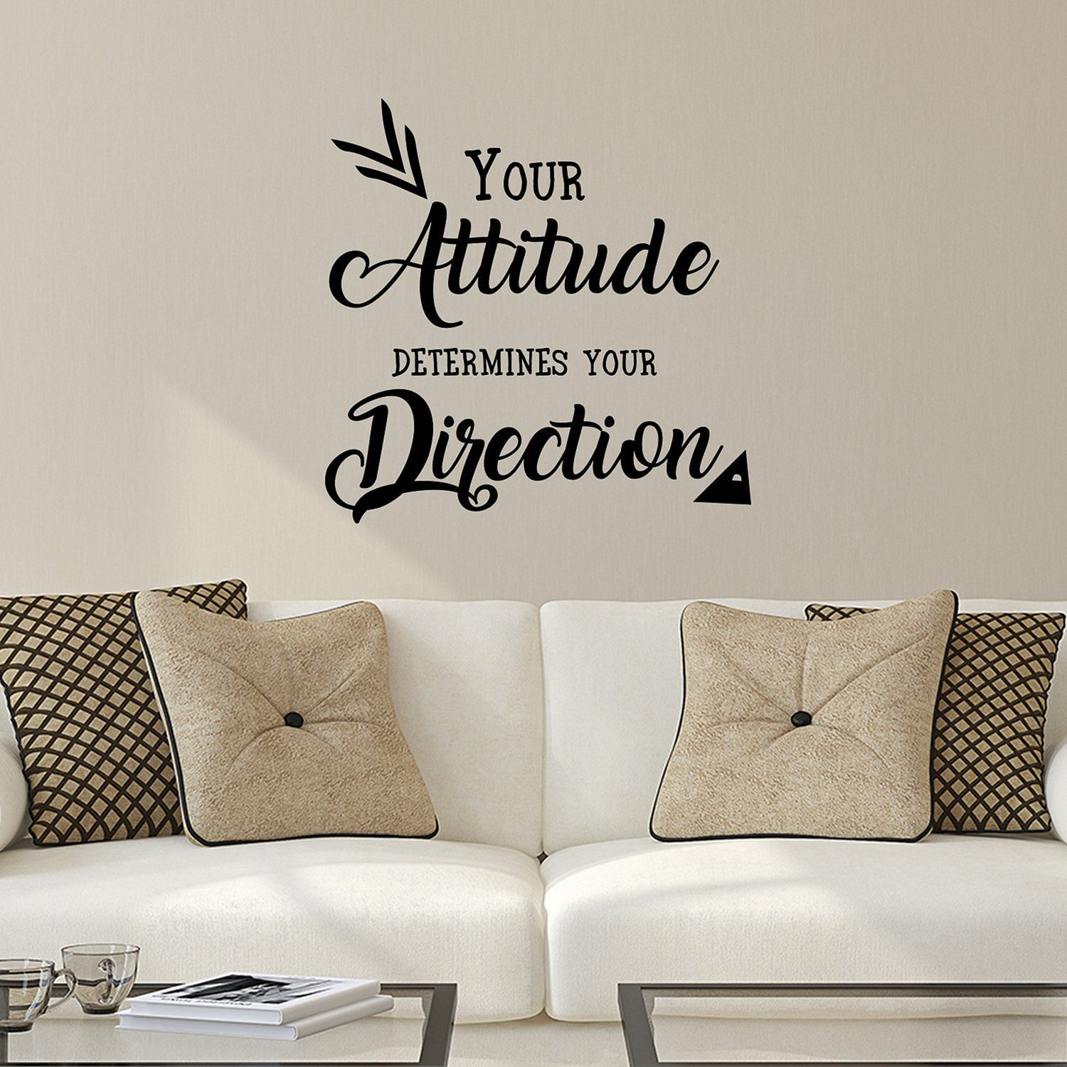10 best living room decoration with beautiful wall quote
