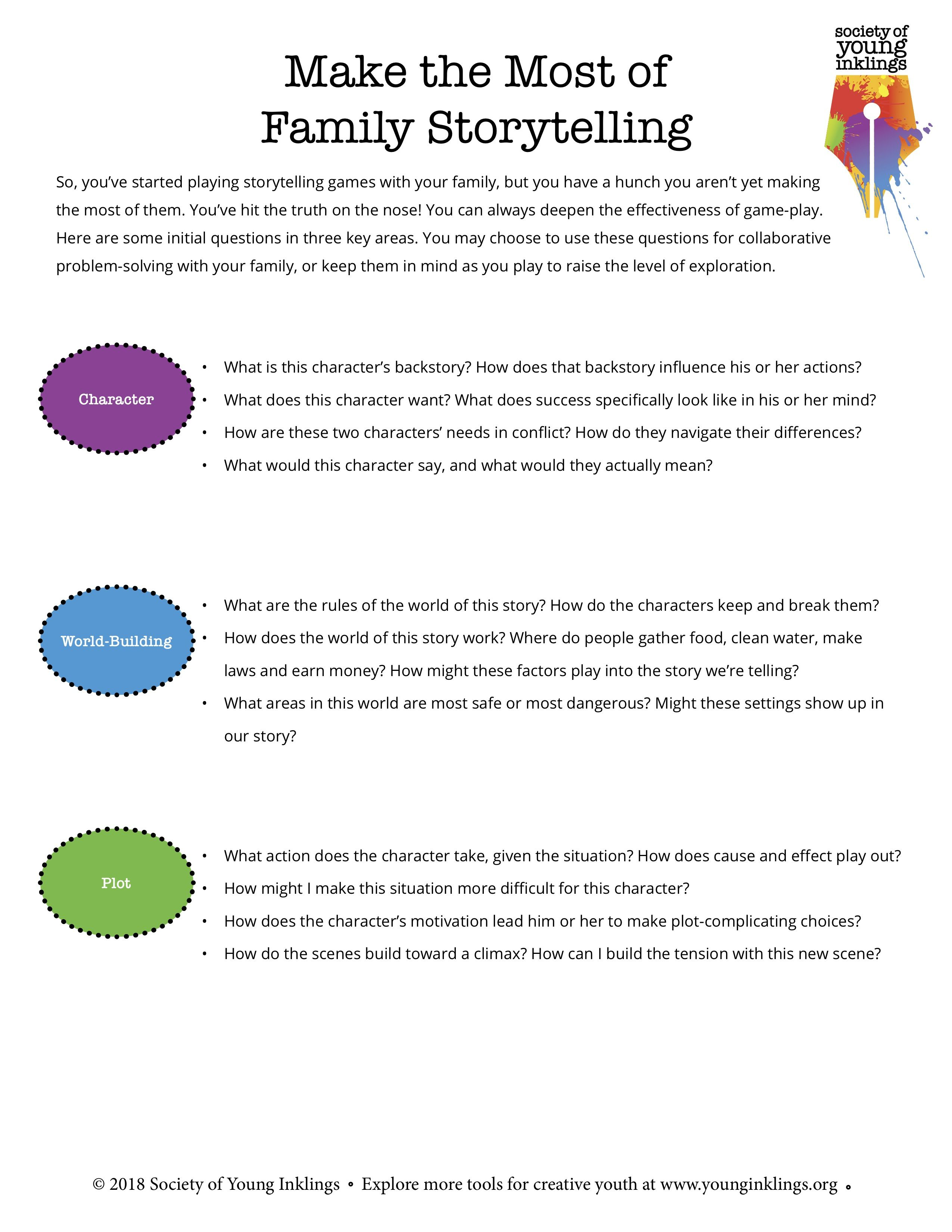 Printable Parent Worksheet