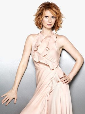 Cynthia Nixon love the color and shape of her hair