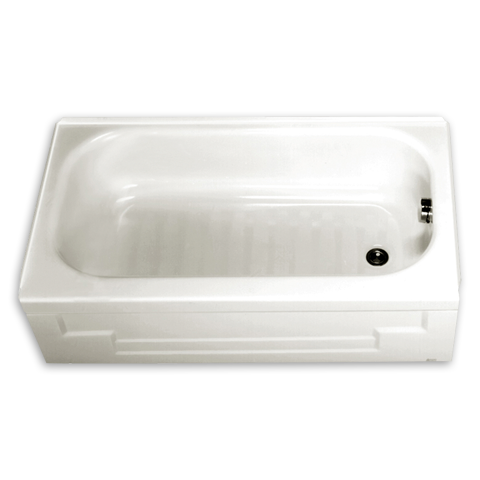 small bathtub mackenzie 412 x 30 integral apron bathing pool shown - American Standard Tubs