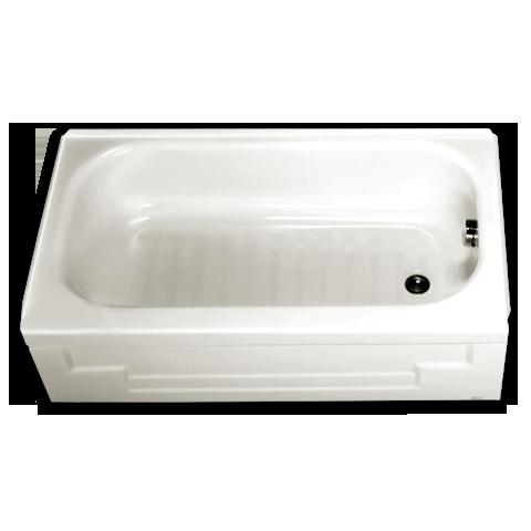 Mackenzie 4 1 2 X 30 Integral Apron Bathtub Shown In 020 Small Tub Small Bathtub Bathtub