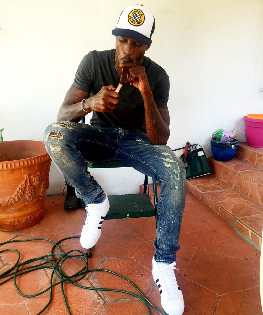 Chad Johnson wearing the adidas Originals Pro Model Celebrity Sneakers 085dc13fb