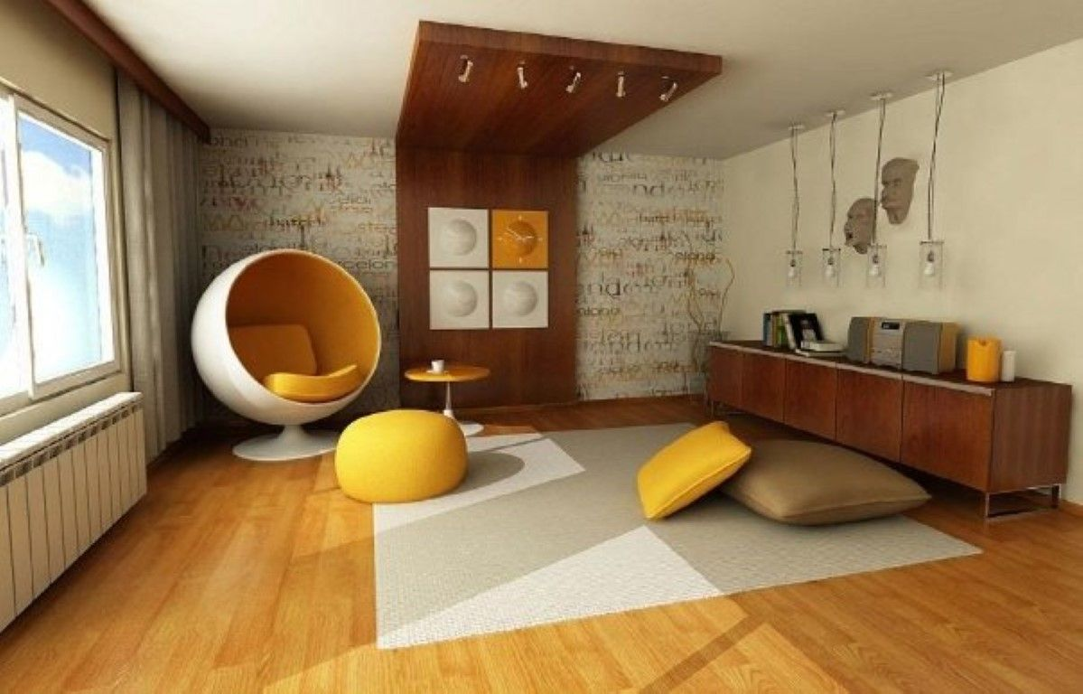 Gelb Themed Wohnzimmer - #deko bilder #dekoration wohnzimmer ...