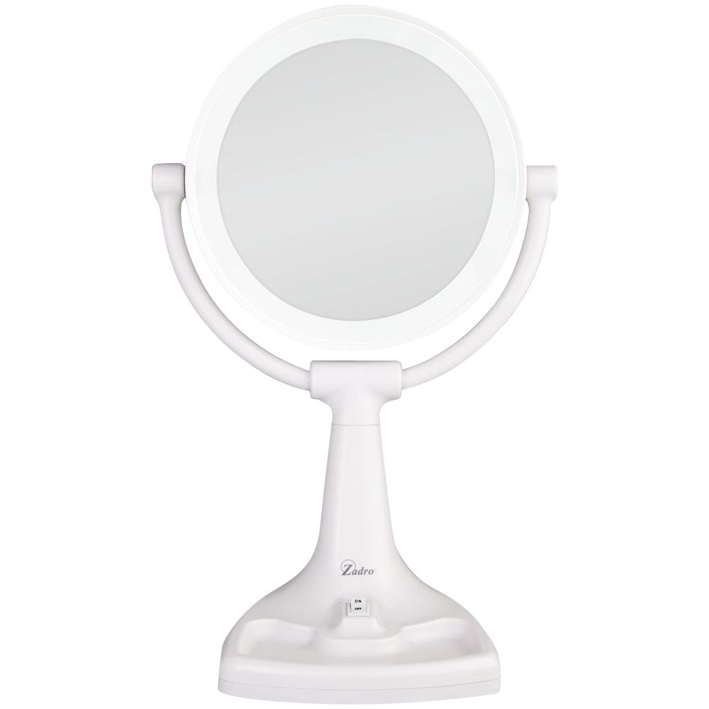 Zadro Max Bright Sunlight Vanity Mirror White In 2020 Mirror With Lights Lighted Vanity Mirror Mirror
