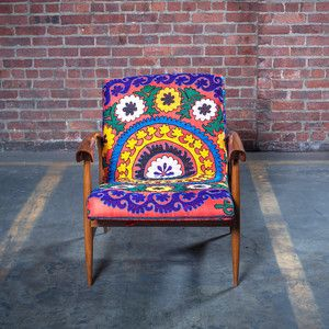 50s Chair Suzani Silk Pink now featured on Fab. $1,020
