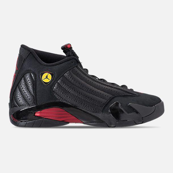 8438d1c9712ded Right view of Men s Air Jordan Retro 14 Basketball Shoes in Black Varsity  Red Black