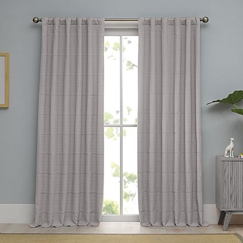 Real Simple® Linear Woven Ribbed Matelasse Window Curtain Panel