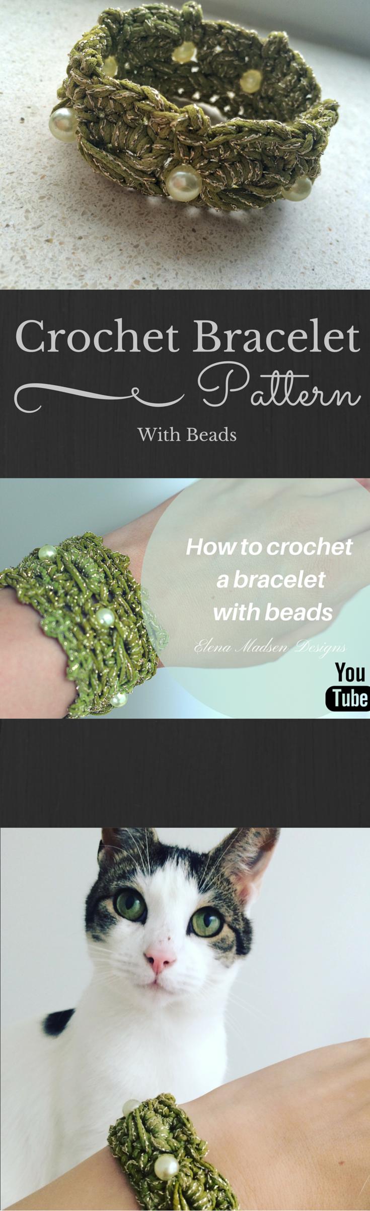 Free Crochet Bracelet Tutorial On Youtube Follow This Crochet
