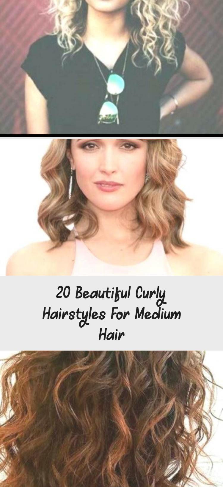 20 schöne lockige Frisuren für mittleres Haar, #beautiful #curly #haarstyles #me …