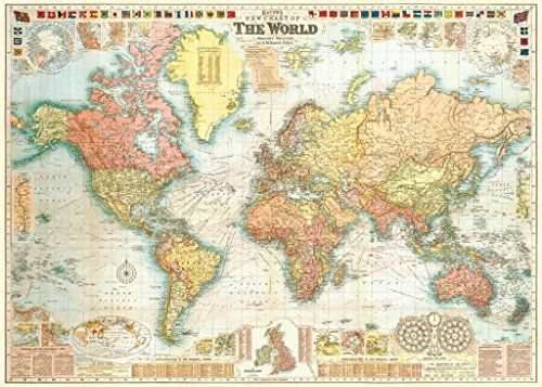 World map gw bacon circa 1907 18x275 poster poster art house http amazon world map gw bacon circa 1907 18x275 poster posters prints gumiabroncs Image collections