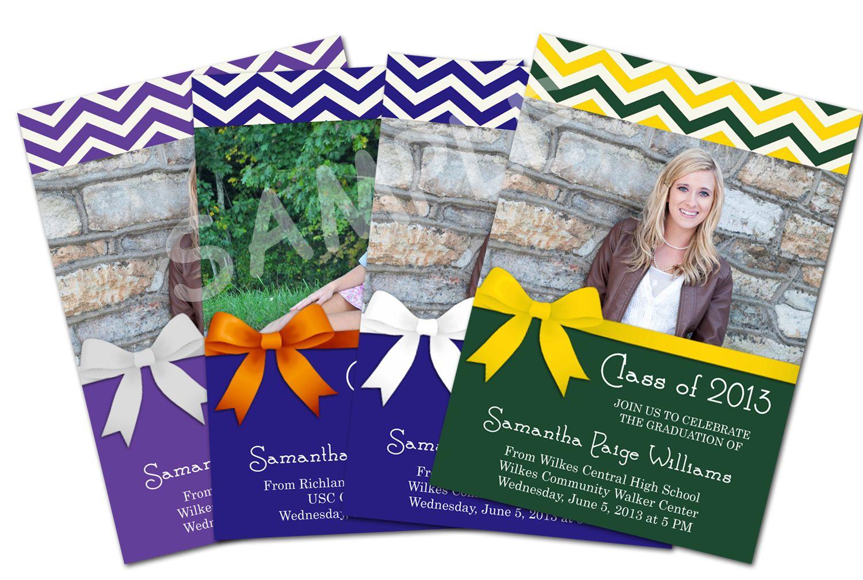 Design # Grad05 - $10  Choose your graduation colors! Personalize it to match your school!  https://www.facebook.com/photo.php?fbid=452402934845797=a.429940410425383.1073741830.410759432343481=3=1