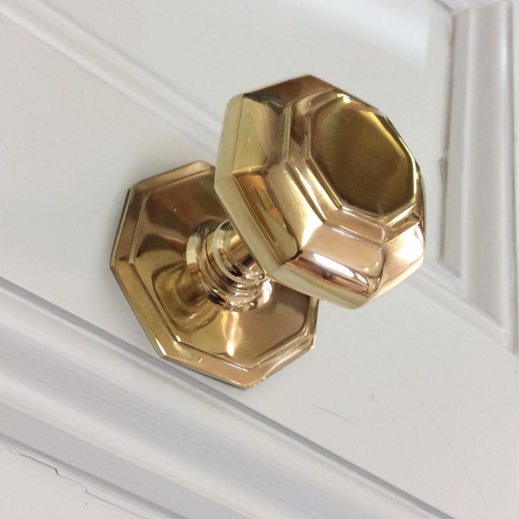 Brass Gold Octagonal Antique Victorian Centre Front Door Pull | ATC ...