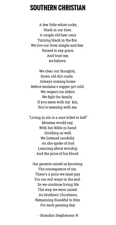 Southern Christian With Images Poems About Life