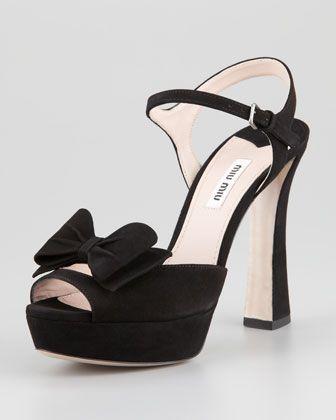 Front Bow Platform Sandal by Miu Miu