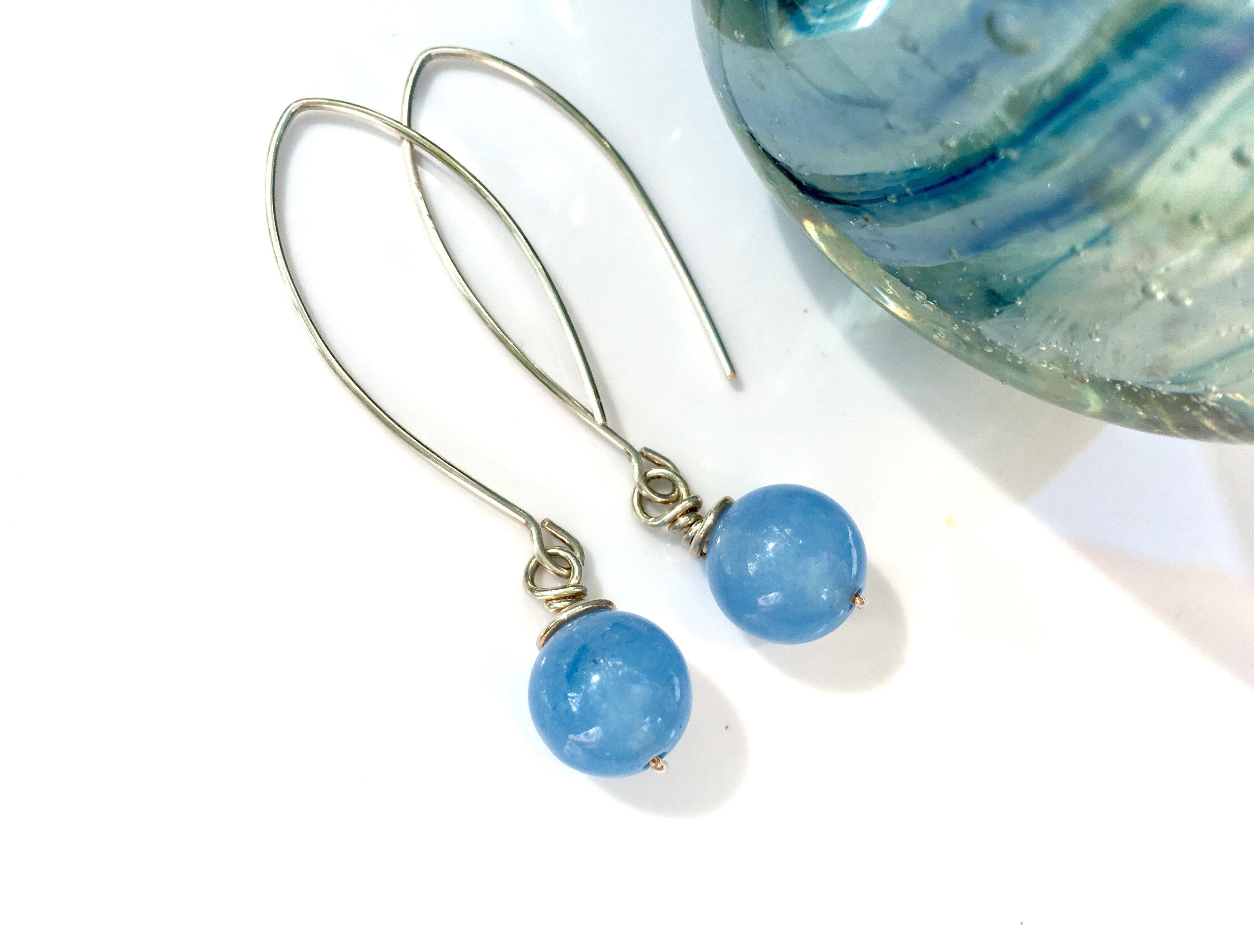 Sky blues & sterling silver handmade. A bridesmaid's keepsake! https://img1.etsystatic.com/103/2/8965783/il_fullxfull.1044179365_2226.jpg #etsymntt #bridedmaid #weddingjewelry