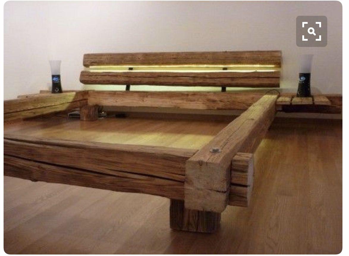 Letto Rustico Legno : Pin di mat su letti in legno di recupero scaffale ad