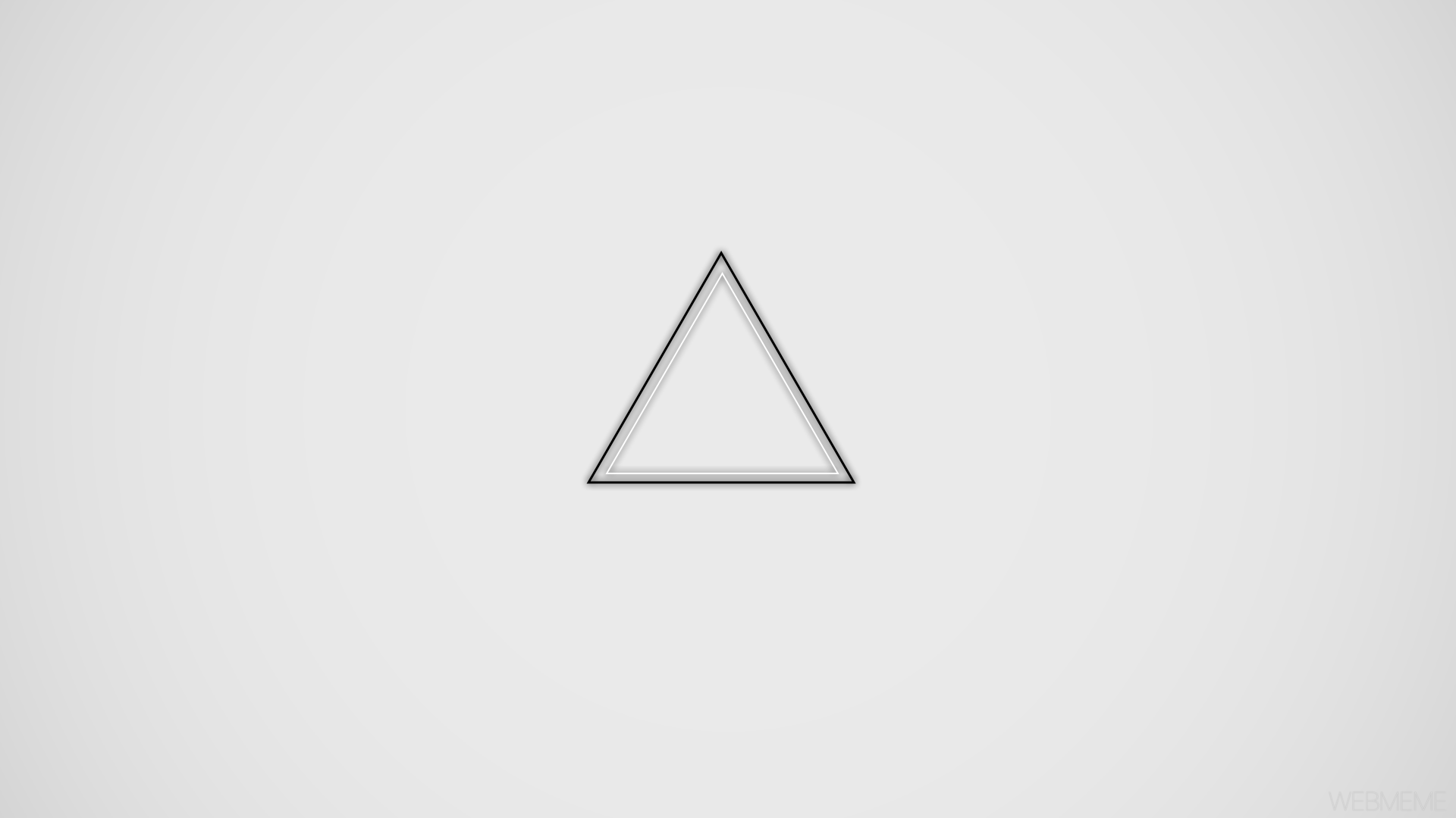 General X Minimalism Geometry Triangle Black White