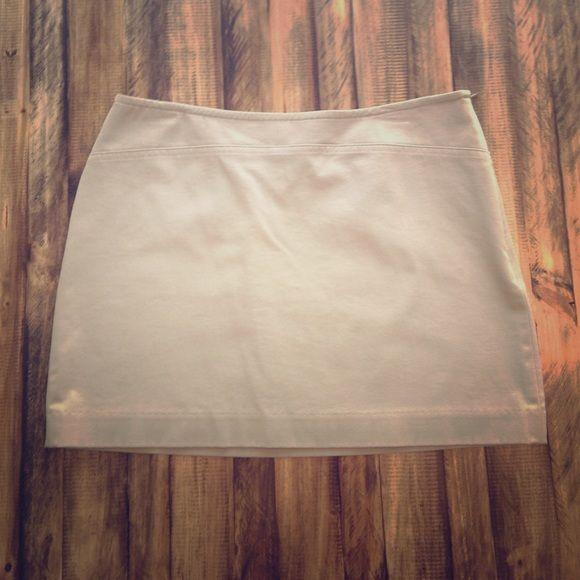 Express Mini Skirt Khaki Mini Skirt. Hook & Eye and Zipper on Side Express Skirts Mini