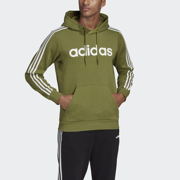 Essentials 3 Stripes Pullover Hoodie | Adidas men, Hoodies
