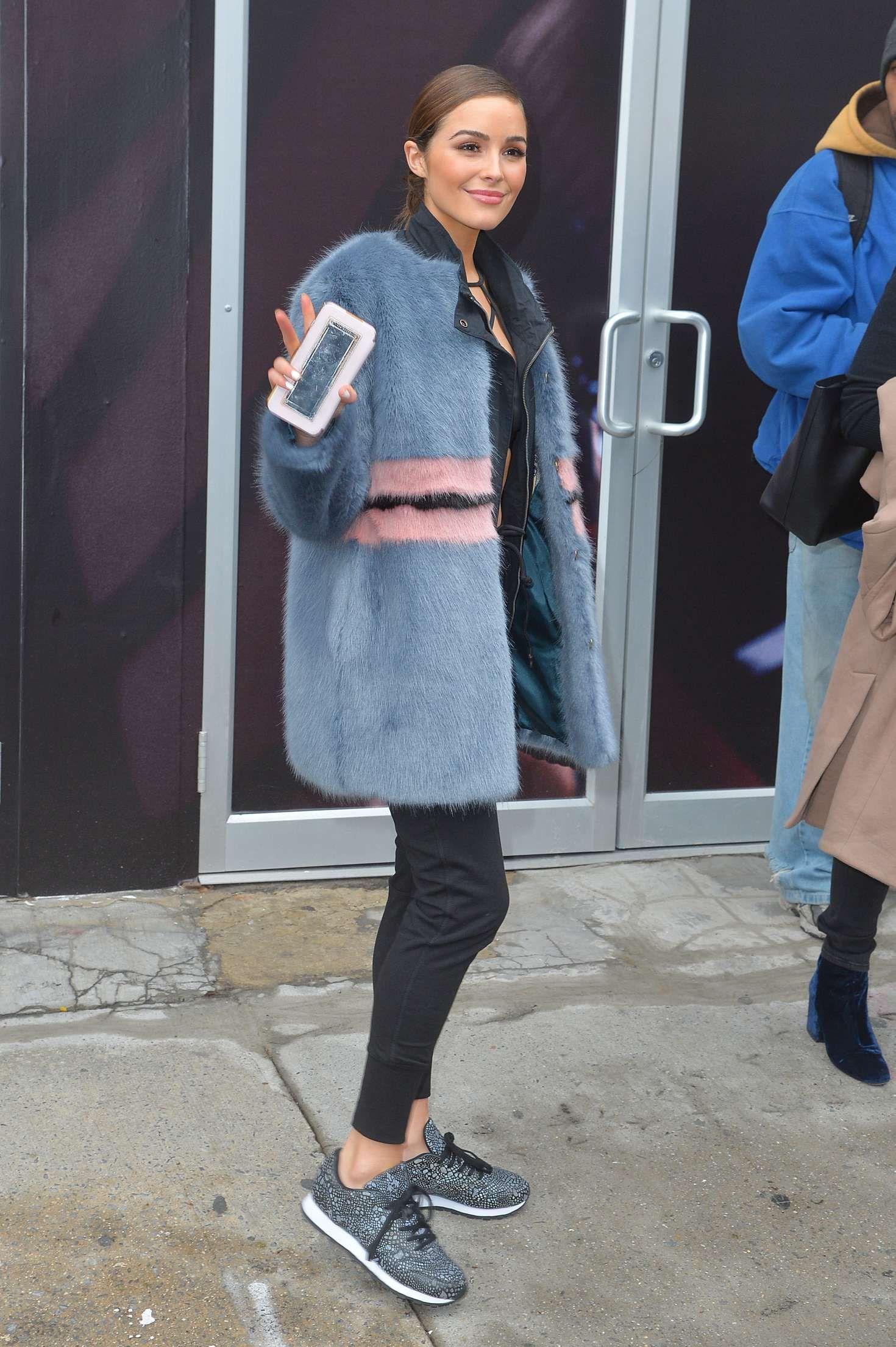 d3fbe5d1176 Olivia Culpo Leaving Reebok Panel in NYC