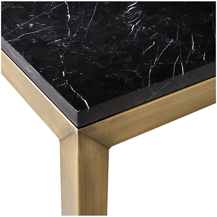Parsons Black Marble Top Brass Base 60x36 Dining Table Reviews Crate And Barrel In 2021 Marble Top Dining Table Stone Top Dining Table Dining Table Marble