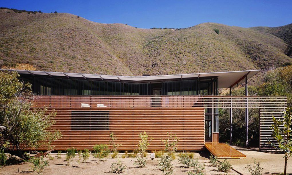 The Jackson House floats at the base of a canyon in Big