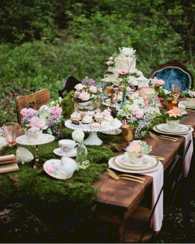 36 Cool Outdoor Vintage Tea Party Ideas Vintage Tea Parties Tea