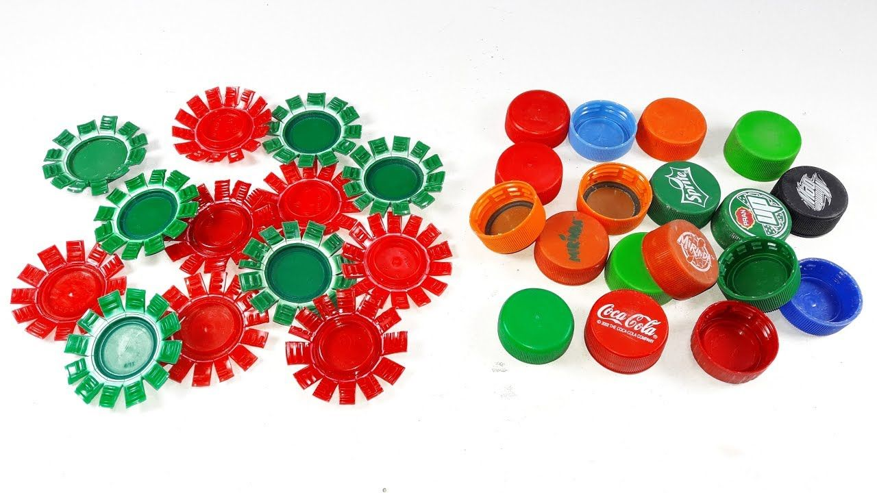 Waste Plastic Bottle Caps Craft Idea Best Out Of Waste Diy