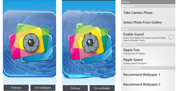 Water Ripple Live Wallpaper | Code-Scripts-and-Plugins | Water