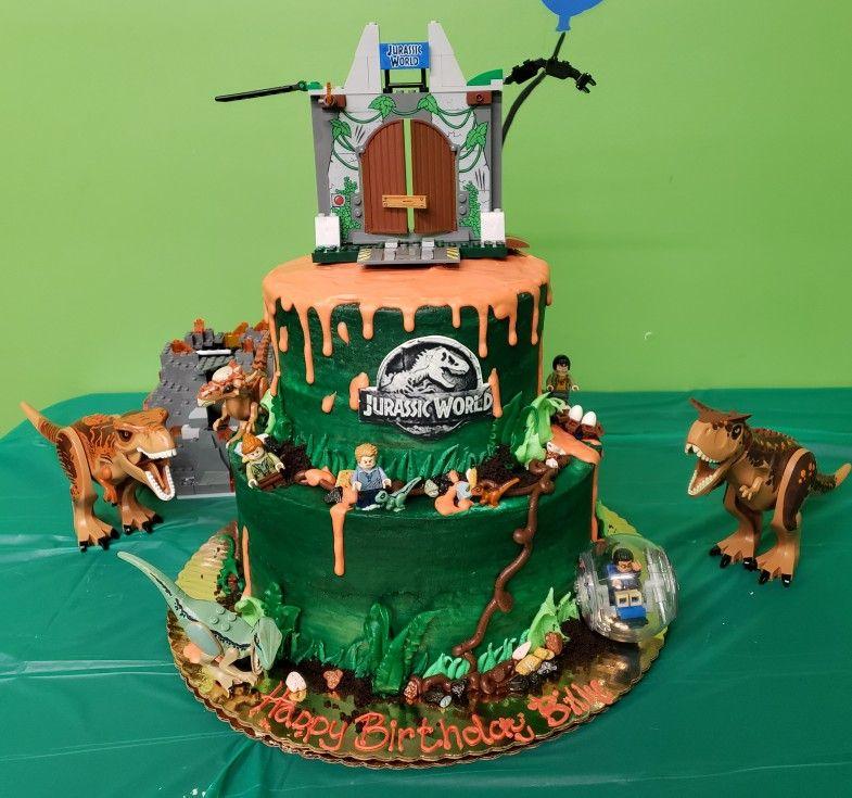 Lego Jurassic World Cake Jurassic World Cake Lego Cake Lego