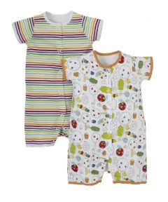 733e7e789607f View details of Mothercare Caterpillar Romper - 2 Pack