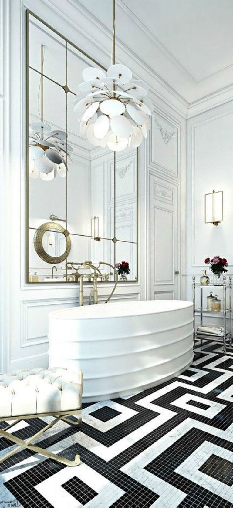 39+ Elegant Black White Bathroom Design Ideas | White ...