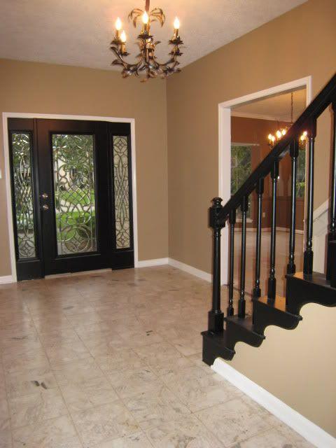 Black And Beige Living Room Decor: Black & Cream Trim W/ Beige Walls