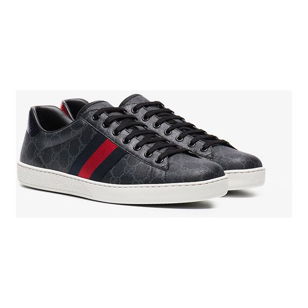 f6ec51688 Gucci Ace Gg Supreme Sneaker ($515) ❤ liked on Polyvore featuring men's  fashion, men's shoes, men's sneakers, black, mens retro shoes, mens retro  sneakers, ...