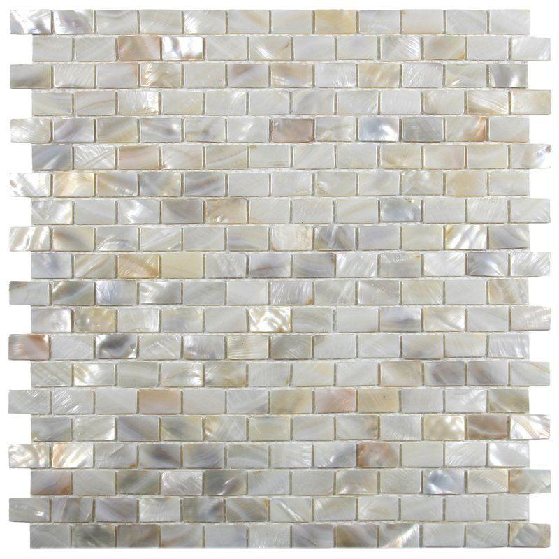 Atlantic 1 X 2 Seashell Mosaic Tile In Cream Shell Tiles Pearl Tile Shell Mosaic Tile